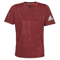 textil Herre T-shirts m. korte ærmer adidas Performance DAILY PRESS TEE Rød