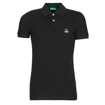 textil Herre Polo-t-shirts m. korte ærmer Benetton MARNELLI Sort