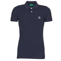 textil Herre Polo-t-shirts m. korte ærmer Benetton MARAKY Marineblå