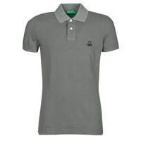 textil Herre Polo-t-shirts m. korte ærmer Benetton  Grå