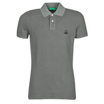 textil Herre Polo-t-shirts m. korte ærmer Benetton MARADI Grå