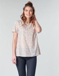 textil Dame Toppe / Bluser Benetton DANIEL Hvid / Flerfarvet