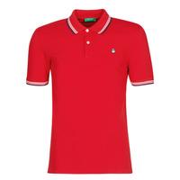 textil Herre Polo-t-shirts m. korte ærmer Benetton GUERY Rød
