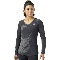 textil Dame Langærmede T-shirts Reebok Sport Crossfit Burnout