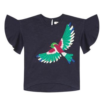 textil Pige T-shirts m. korte ærmer Catimini MATIGNON Blå