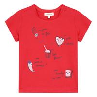 textil Pige T-shirts m. korte ærmer Catimini MUSIKOU Rød