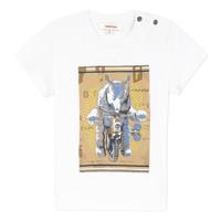 textil Dreng T-shirts m. korte ærmer Catimini LARIBI Hvid