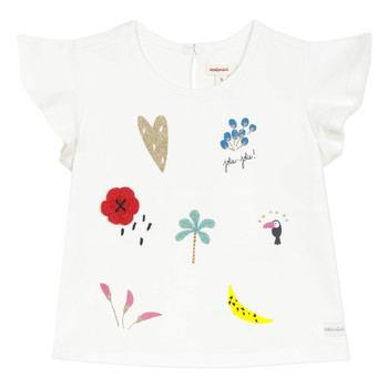 textil Pige T-shirts m. korte ærmer Catimini NADEGE Hvid