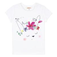 textil Pige T-shirts m. korte ærmer Catimini MAE Hvid
