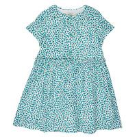 textil Pige Korte kjoler Catimini ELLA Grøn / Blå