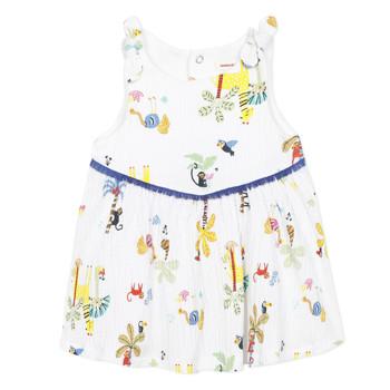 textil Pige Korte kjoler Catimini BIXENTE Hvid