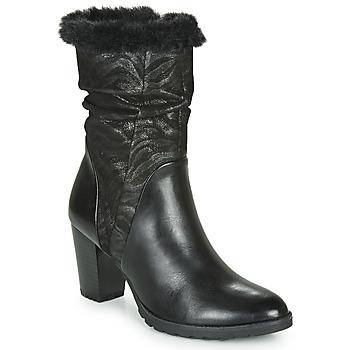 Sko Dame Chikke støvler Caprice LOTIMA Sort