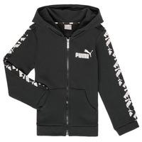 textil Dreng Sweatshirts Puma AMPLI HOOD JKT Sort