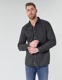 textil Herre Skjorter m. lange ærmer Diesel D-BER-P Sort