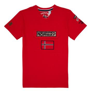 textil Dreng T-shirts m. korte ærmer Geographical Norway JIRI Rød