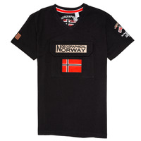 textil Dreng T-shirts m. korte ærmer Geographical Norway JIRI Sort