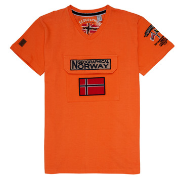 textil Dreng T-shirts m. korte ærmer Geographical Norway JIRI Orange