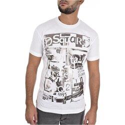 textil Herre T-shirts m. korte ærmer Dsquared S74GD0531 Hvid