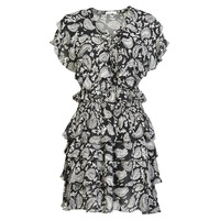 textil Dame Korte kjoler Replay  Sort / Hvid