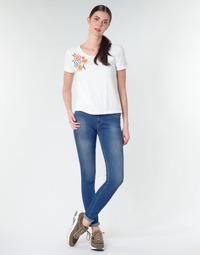textil Dame Jeans - skinny Replay LUZ Blå / Mørk
