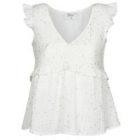 textil Dame Toppe / Bluser Betty London  Hvid / Gylden