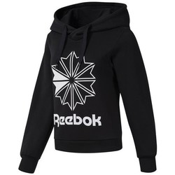 textil Dame Sweatshirts Reebok Sport CL FL Big Logo Hood Sort