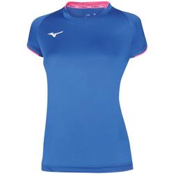 textil Dame T-shirts m. korte ærmer Mizuno Maillot  femme Core bleu royal/rose fluo