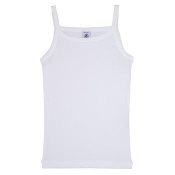 textil Pige Toppe / T-shirts uden ærmer Petit Bateau 53295 Hvid