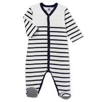 textil Børn Pyjamas / Natskjorte Petit Bateau FUT Hvid / Blå