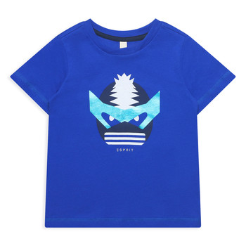 textil Pige T-shirts m. korte ærmer Esprit ENORA Blå