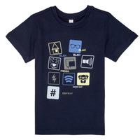 textil Dreng T-shirts m. korte ærmer Esprit ENZIEO Marineblå
