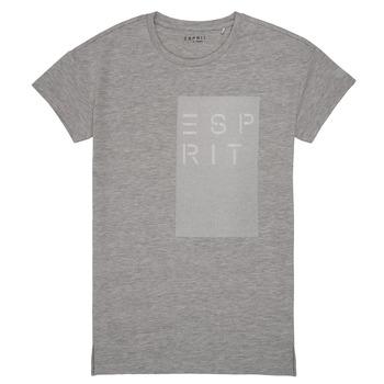 textil Pige T-shirts m. korte ærmer Esprit EVELYNE Grå