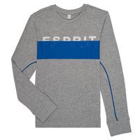 textil Dreng Langærmede T-shirts Esprit FABIOLA Grå