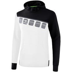 textil Børn Sweatshirts Erima Sweat à capuche enfant  5-C blanc/noir/gris