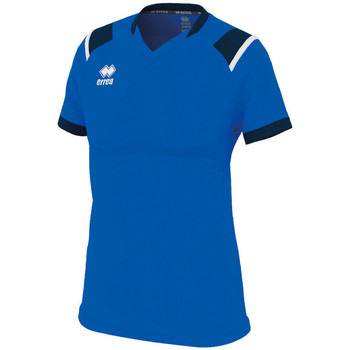 textil Dame T-shirts m. korte ærmer Errea Maillot femme  lenny bleu/marine/blanc