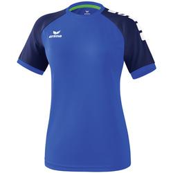 textil Dame T-shirts m. korte ærmer Erima Maillot femme  Zenari 3.0 bleu/bleu/vert clair