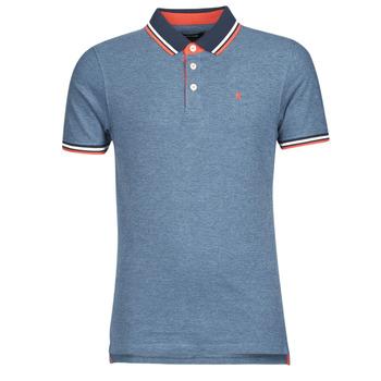 textil Herre Polo-t-shirts m. korte ærmer Jack & Jones JJEPAULOS Blå