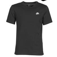 textil Herre T-shirts m. korte ærmer Nike M NSW CLUB TEE Sort / Hvid