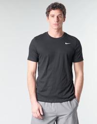 textil Herre T-shirts m. korte ærmer Nike M NK DRY TEE DFC CREW SOLID Sort / Hvid