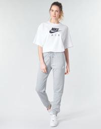 textil Dame Træningsbukser Nike W NSW ESSNTL PANT REG FLC Grå / Hvid
