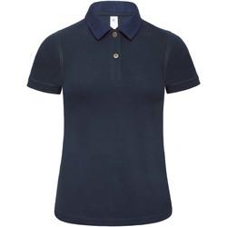 textil Dame Polo-t-shirts m. korte ærmer B And C B803F Denim/ Navy