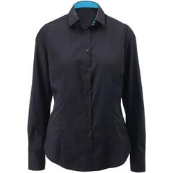 textil Dame Skjorter / Skjortebluser Alexandra AX060 Black/ Peacock