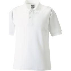 textil Dreng Polo-t-shirts m. korte ærmer Jerzees Schoolgear 65/35 White