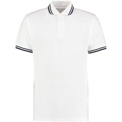 textil Herre Polo-t-shirts m. korte ærmer Kustom Kit KK409 White/Navy