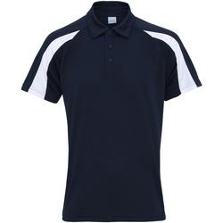 textil Herre Polo-t-shirts m. korte ærmer Awdis JC043 French Navy/Arctic White