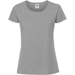 textil Dame T-shirts m. korte ærmer Fruit Of The Loom SS424 Zinc