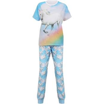 textil Dame Pyjamas / Natskjorte Christmas Shop Unicorn Light Blue Unicorn