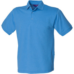 textil Herre Polo-t-shirts m. korte ærmer Henbury HB400 Mid Blue