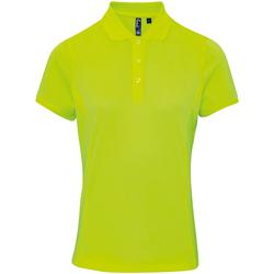 textil Dame Polo-t-shirts m. korte ærmer Premier PR616 Neon Yellow