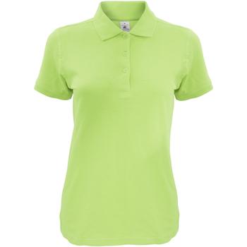 textil Dame Polo-t-shirts m. korte ærmer B And C Safran Pistachio
